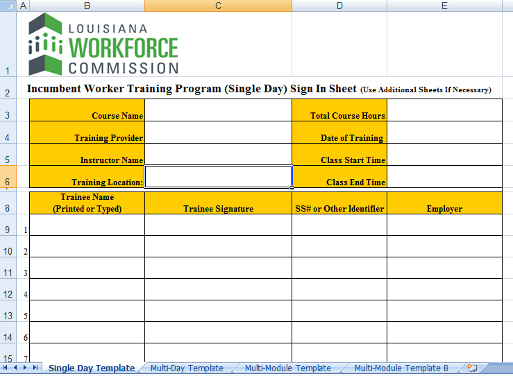 8+ Sign In Sheet Templates