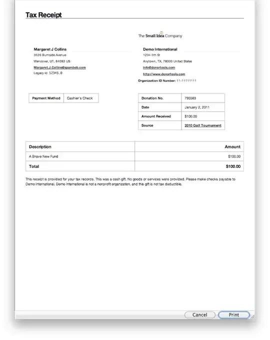 tax donation receipt Template 777