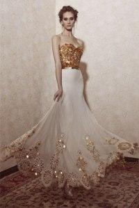 14 Gorgeous White and Gold Wedding Dress - GetFashionIdeas ...