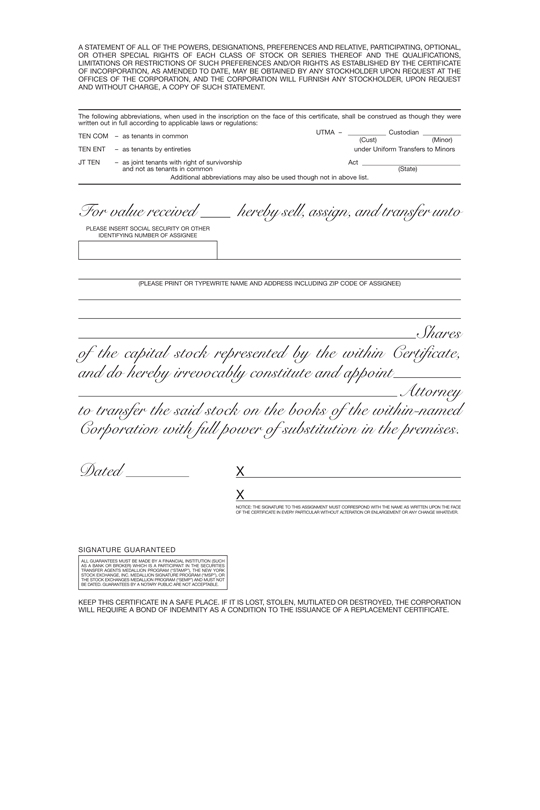 Indemnity Form For Lost Share Certificate - Best Design Sertificate 2018