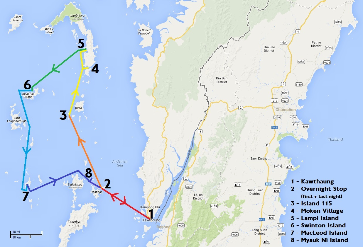 Travel Blog With Map Scott S Travel Blog 2014 03 13 Myanmar Sailing Map