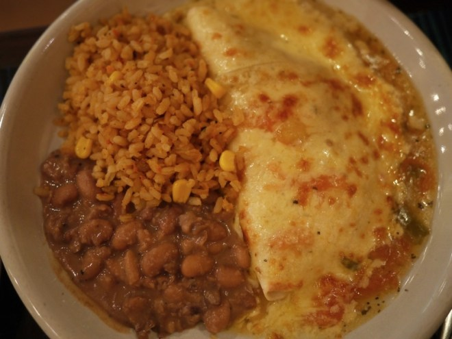 cheese quesidilla with beans and rice
