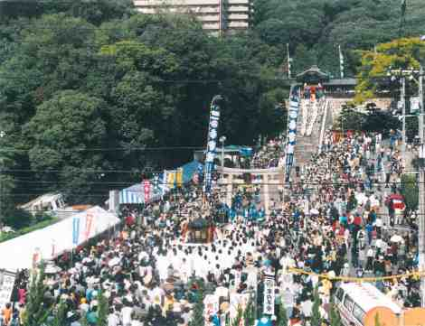 Toshogu shrine festival in 1989. This year's Torigyosairei promises to be even more spectacular.