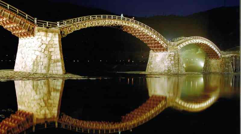 kintai bridge illumination