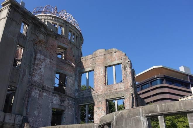 Orizuru Tower from the A-bomb Dome