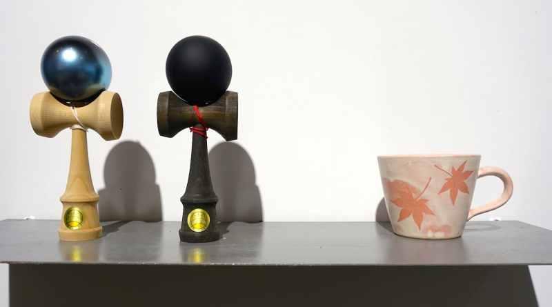 Kendama and Miyajima-yaki ceramic cup at Hiroshima Mono Koto Store