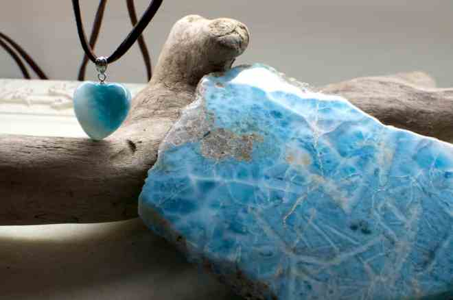 fleur bleue larimar genseki and heart