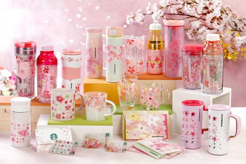 Starbucks 2017 Limited Edition Sakura Products Harmony