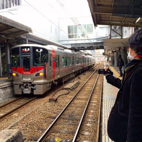 """227 Series """"Red Wing"""" at Hiroshima Station"""