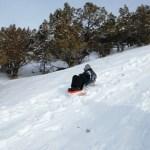 Krystal getting down the hill