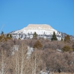 Mussinia Peak while Snowmobiling