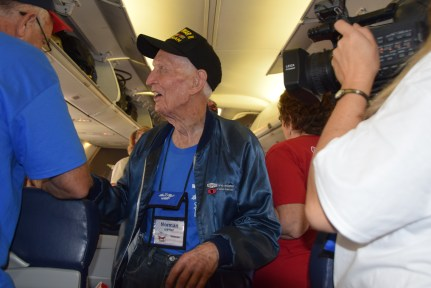 Utah Honor Flight Boarding in LAS