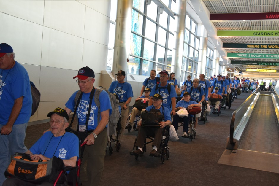 Arriving at BWI Utah Honor Flight