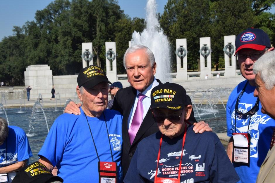 Senator Hatch with Veterans