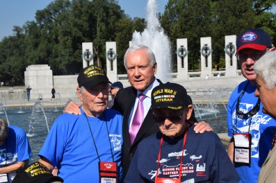 Senator Hatch with Veterans