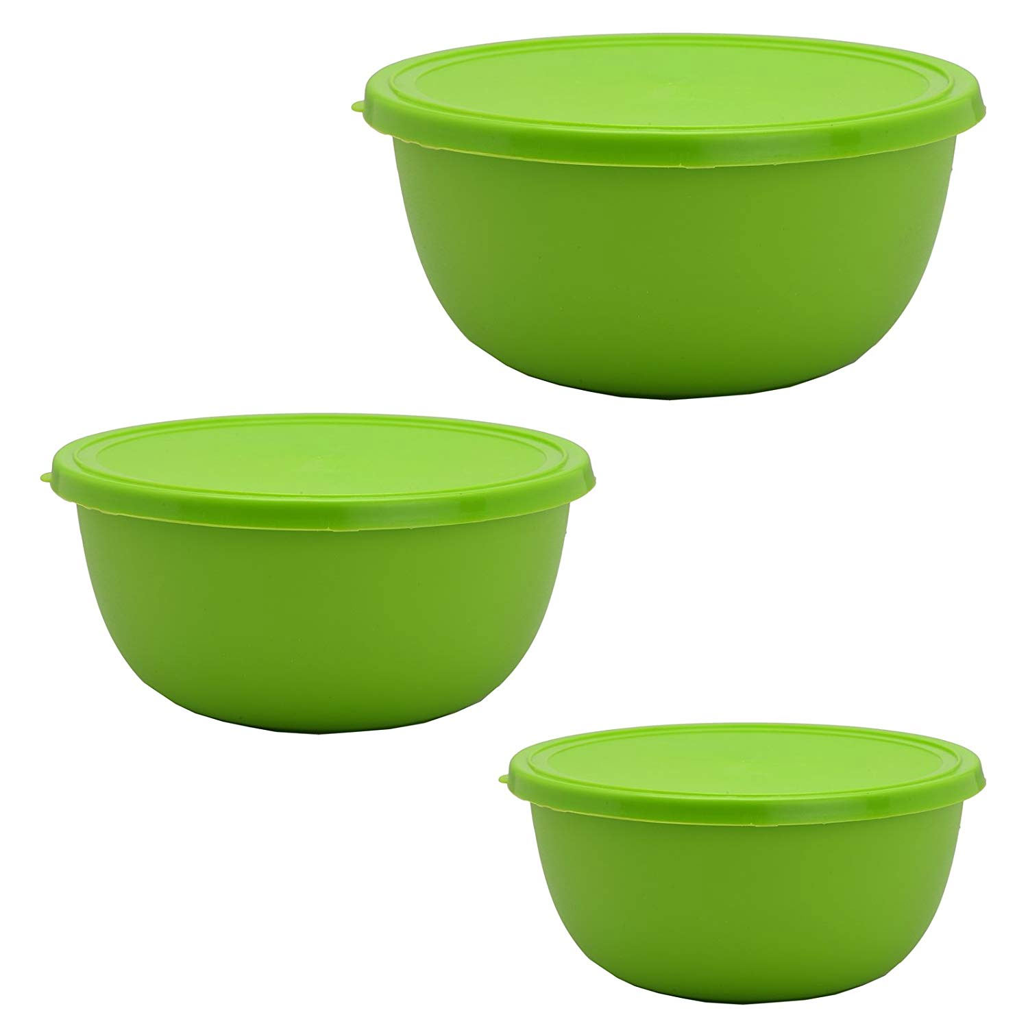 Microwave Safe Bowls Sanjeev Kapoor Microwave Safe Stainless Steel Green Plastic Coated Bowls Set Of 3 Pieces Get India Store