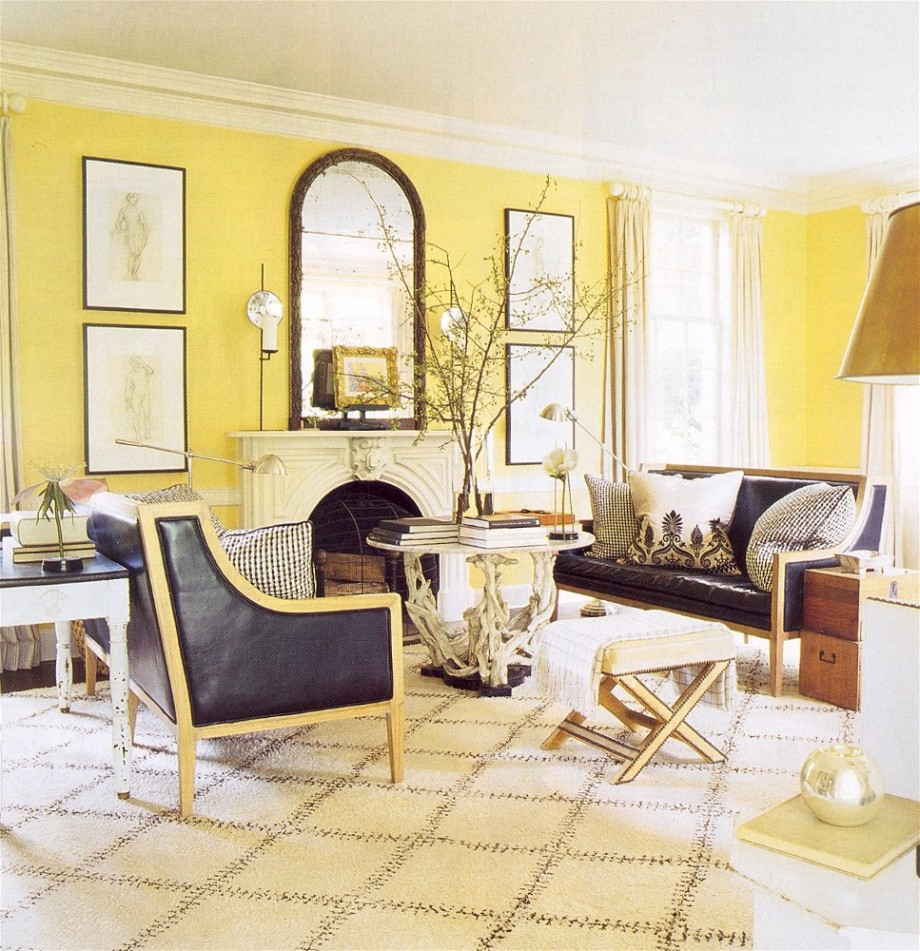 Yellow Decor For Living Room Grey Sofa Yellow Walls Cool Decorate Yellow And Gray Modern Decor