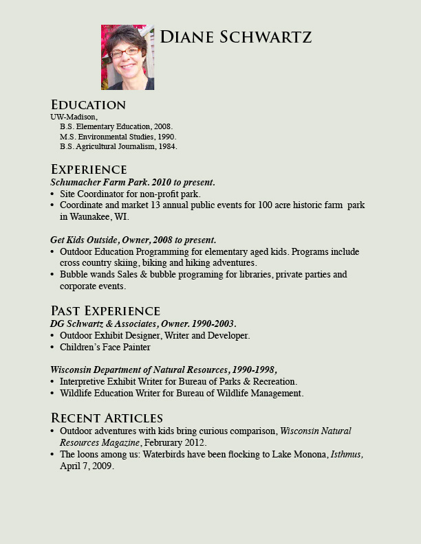Sample Child Actor Resume Template