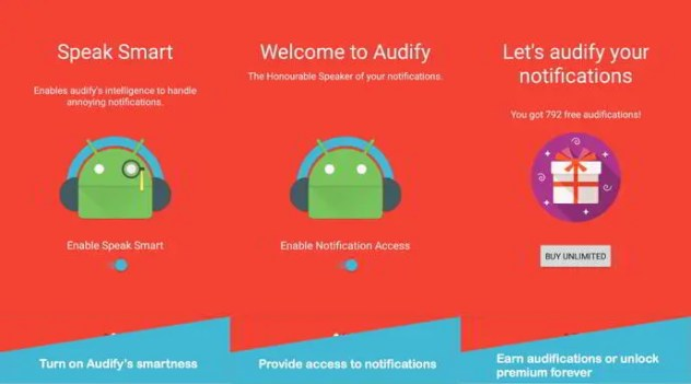 audify notification reader android
