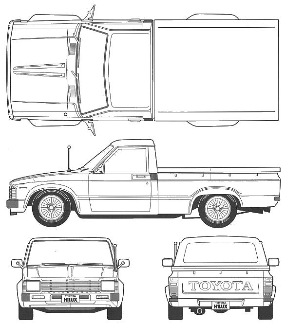 1984 toyota pickup Motordiagramm