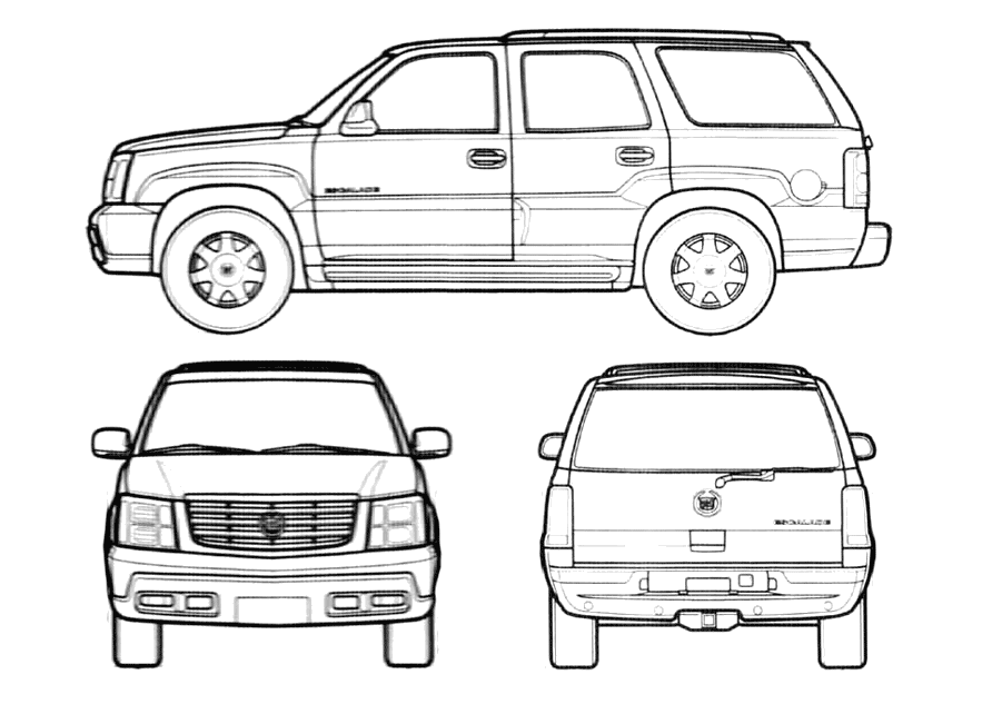 how to draw a cadillac logo