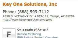 Key One Solutions – Consumer Complaint – November 28, 2012