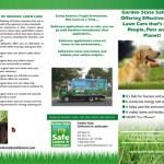 Tri Fold Brochure for Garden State Safe Lawns