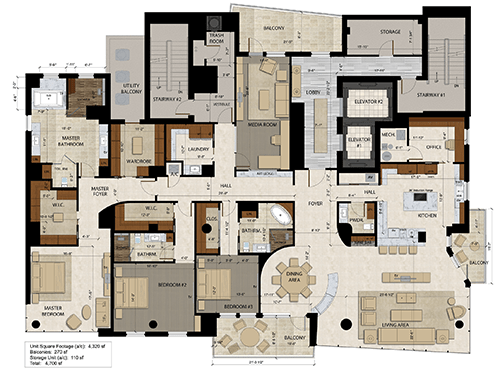 The Jewel Floor Plan