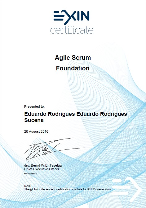 Pass ASF Agile Scrum Foundation Certification Test - Agile Scrum Foundation Certificate Eduardo Rodrigues Sucena