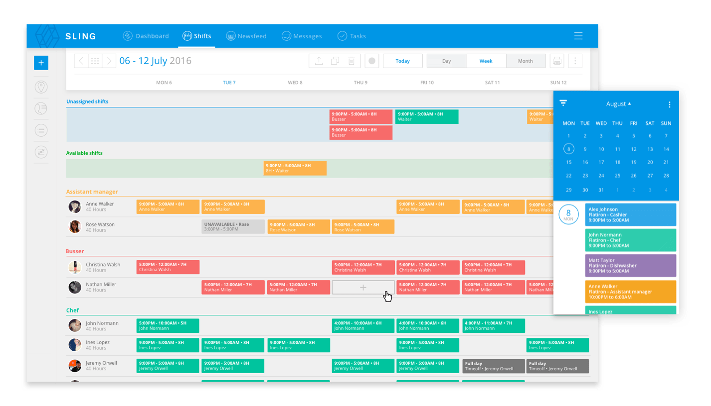 9 Free Employee Scheduling Software Tools Sling