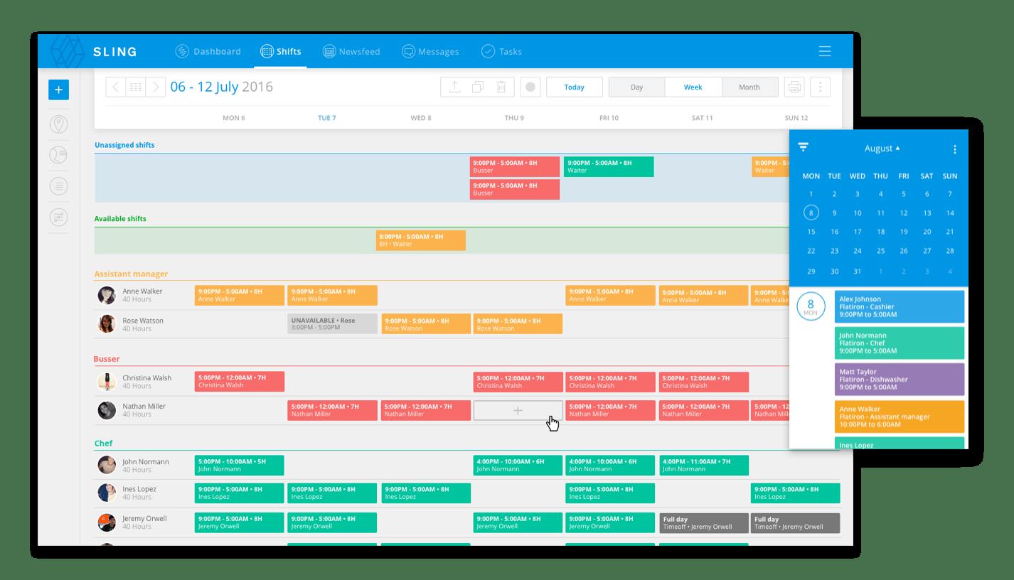 free online employee scheduling calendar
