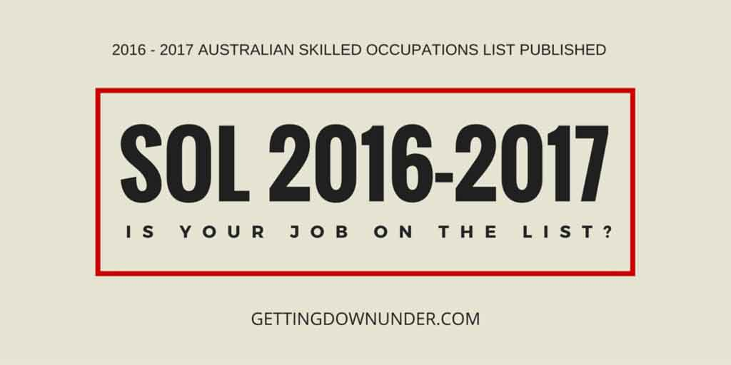 SOL 2016-17 Announced - Getting Down Under