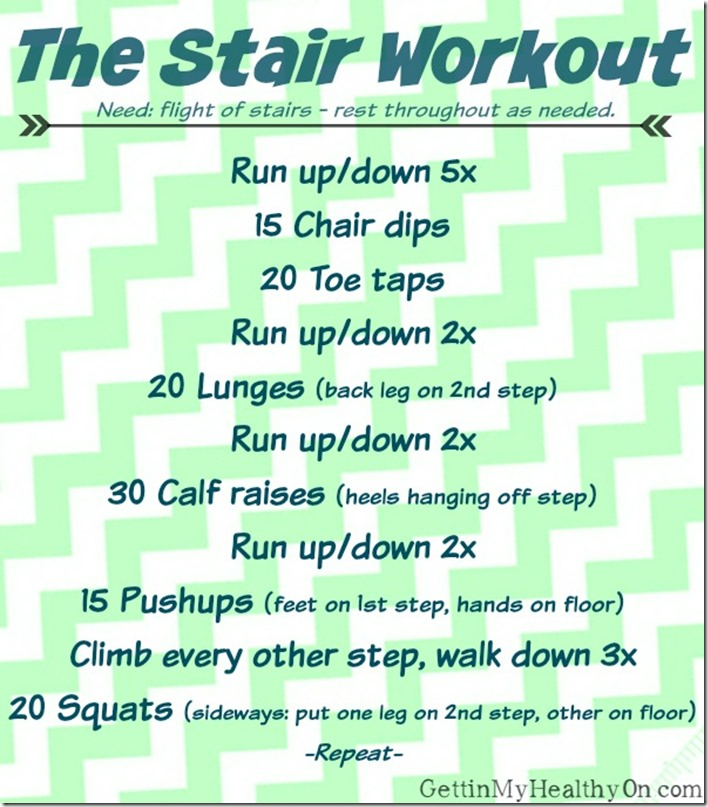 A Workout Using Only Stairs