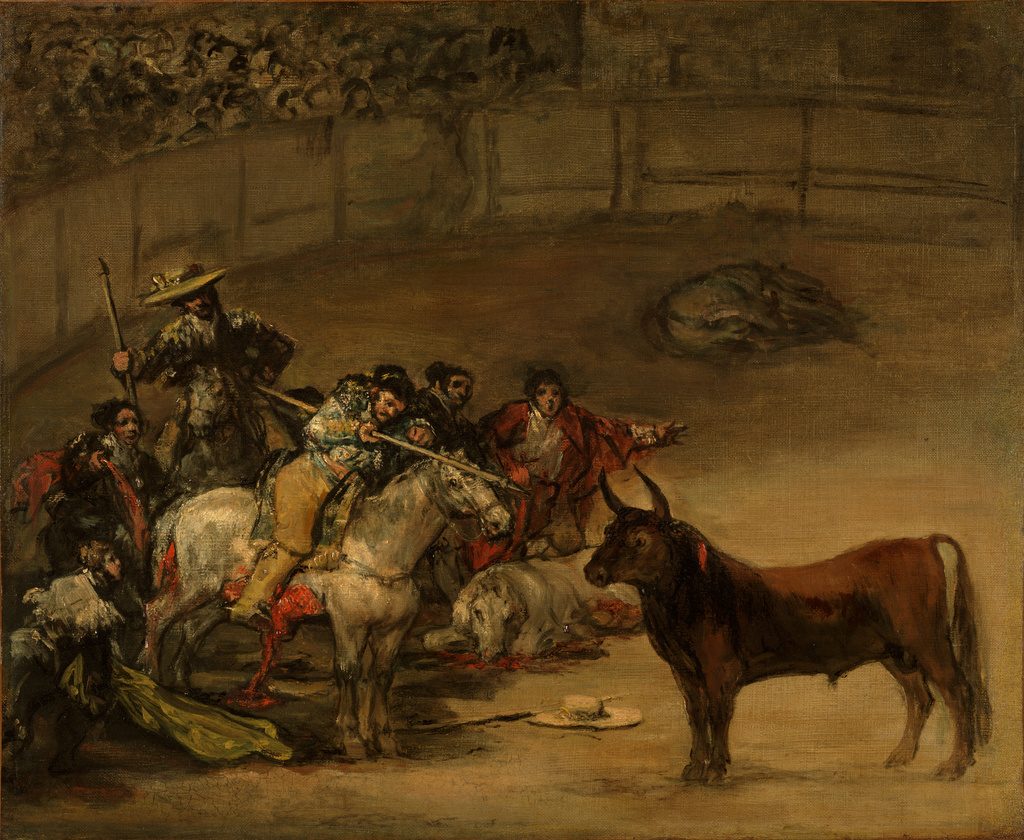 Cuadros De Francisco De Goya Bullfight Suerte De Varas Getty Museum