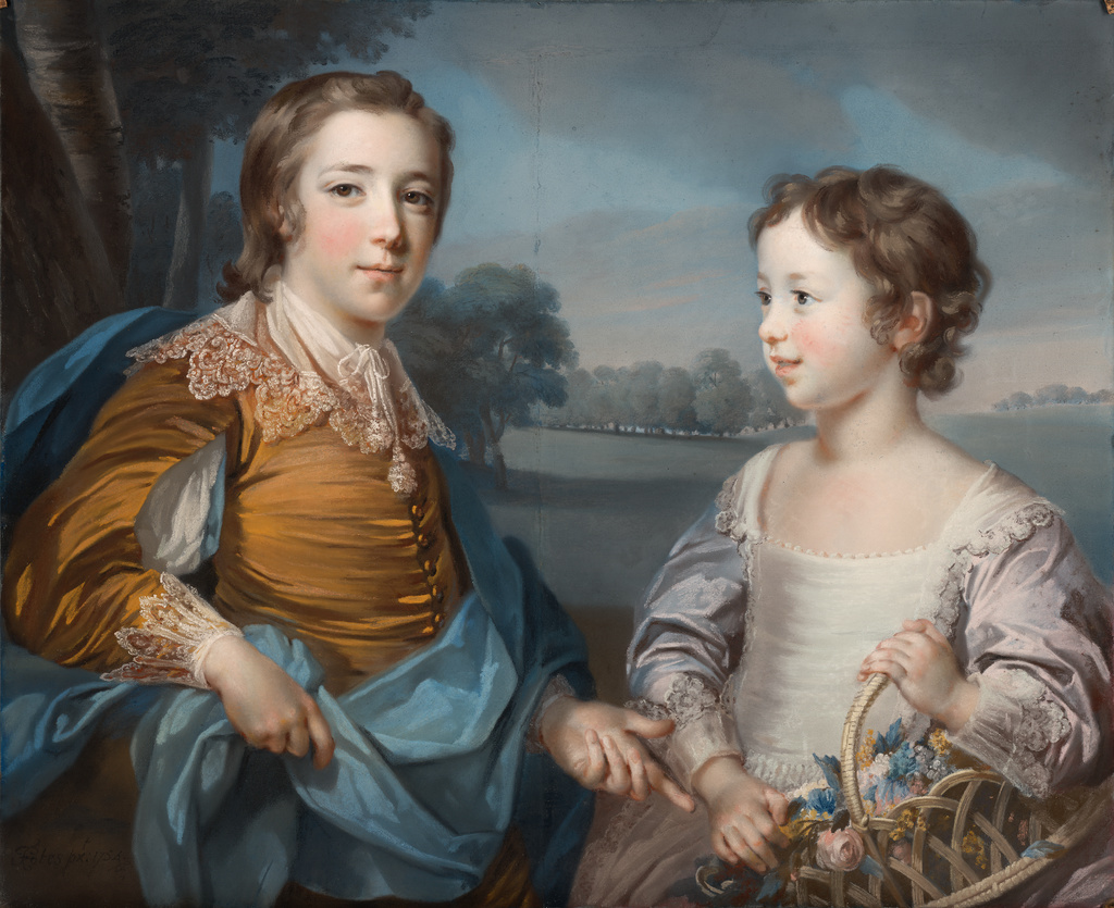 Joseph Und Joseph Portrait Of Joseph 1741 1786 And His Brother John Gulston 1750