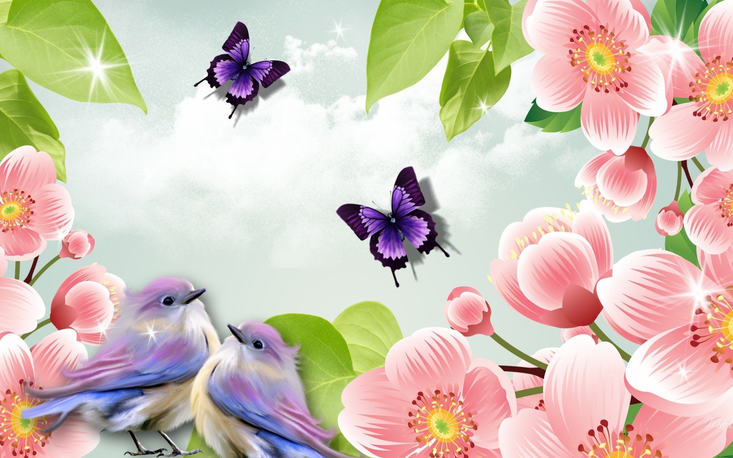 Beautiful Pictures Of Flowers And Butterflies Birds Wallpaper Birds And Flowers 61 43 Images
