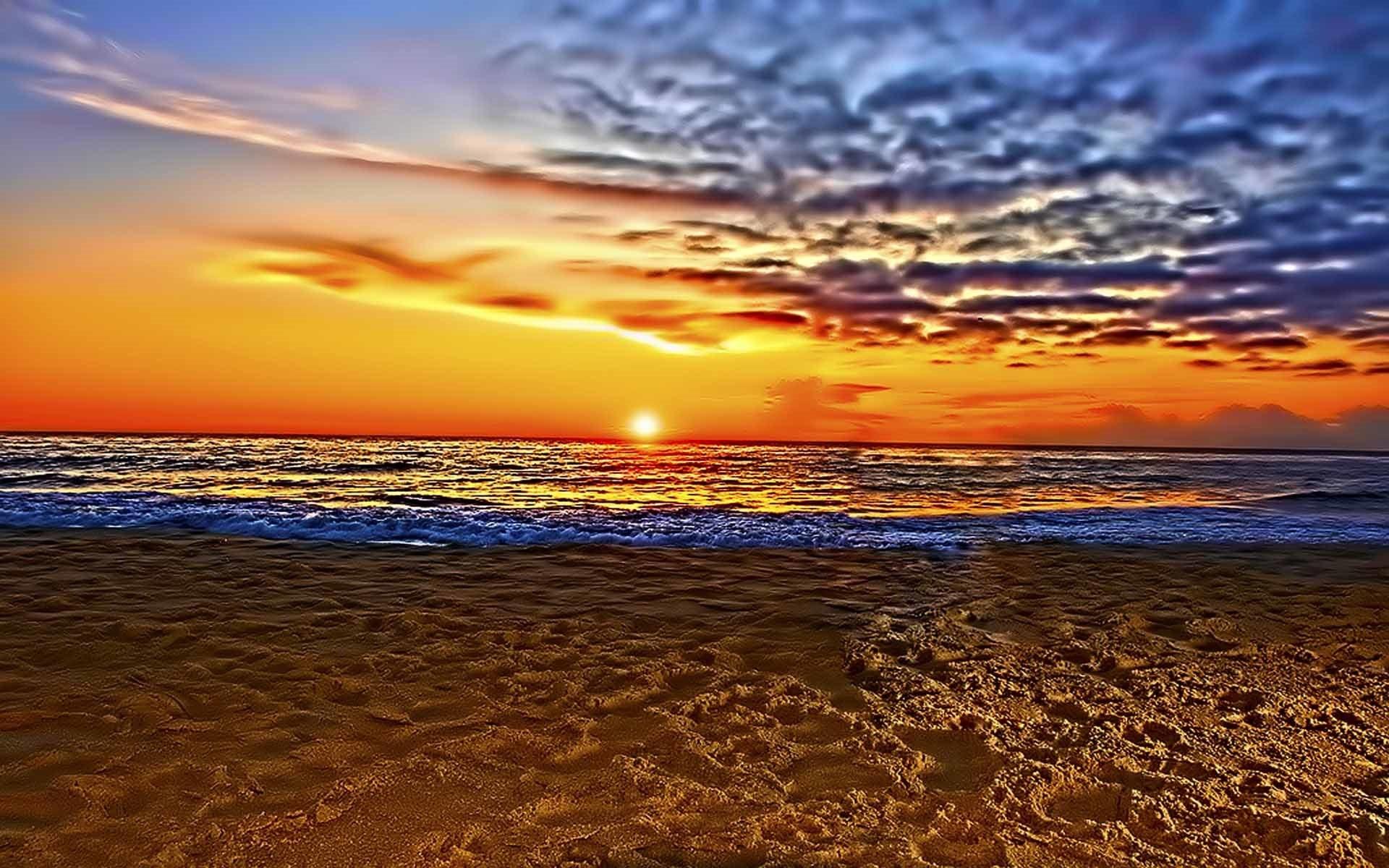 Fall Hd Wallpapers 1080p Widescreen Beautiful Beach Sunset Wallpaper 61 Images