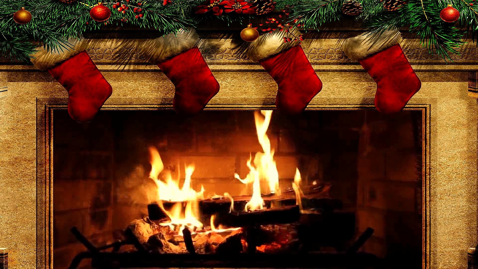 3d Snowy Cottage Animated Wallpaper Free Download Christmas Fireplace Wallpaper 57 Images
