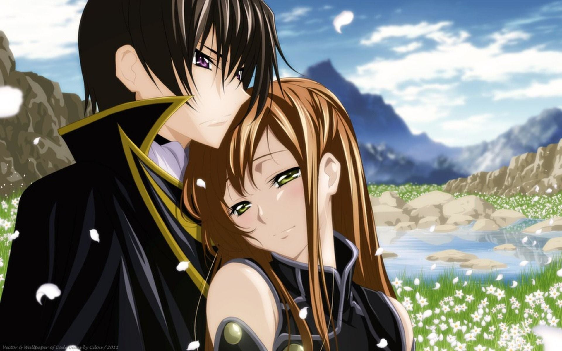 Cute Couple Hugging Wallpaper Anime Hug Wallpaper 57 Images