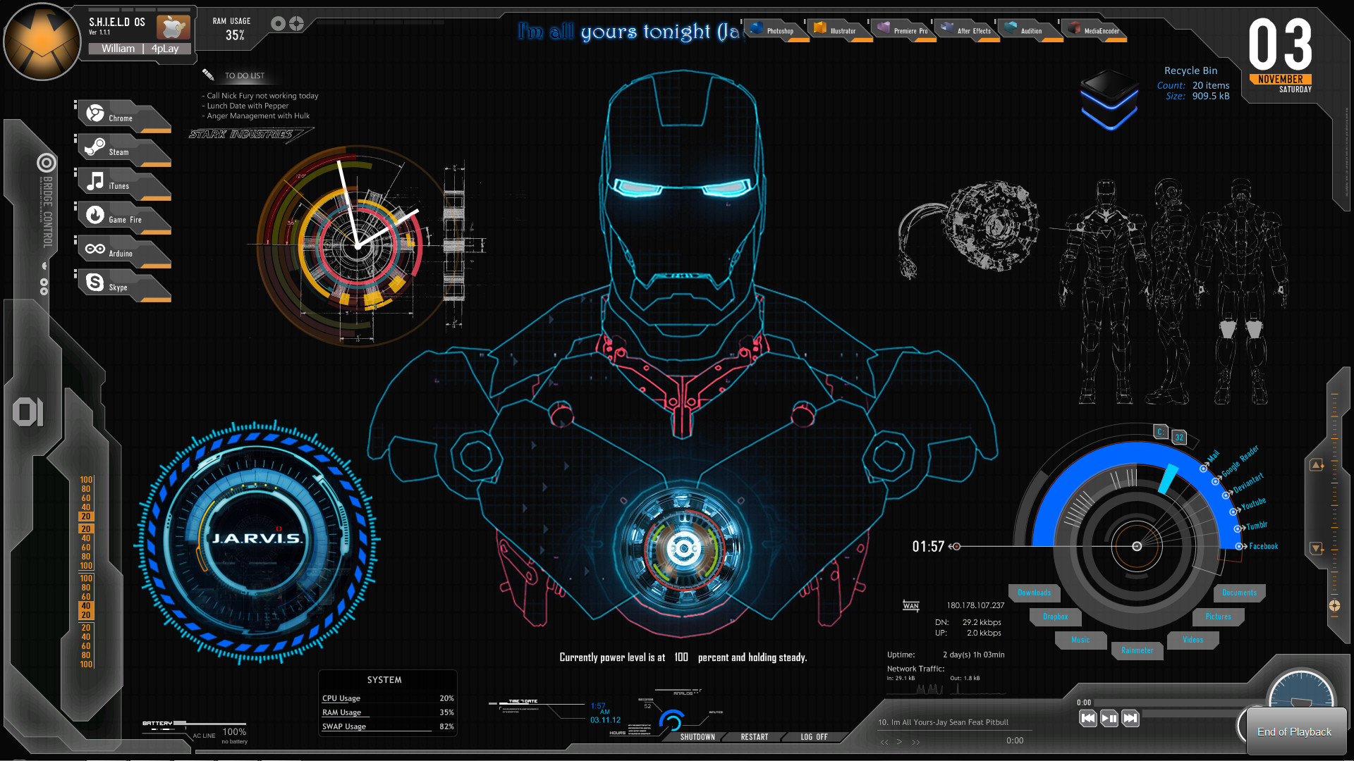 Iron Man 3d Wallpaper Android Jarvis Live Wallpaper For Pc 67 Images
