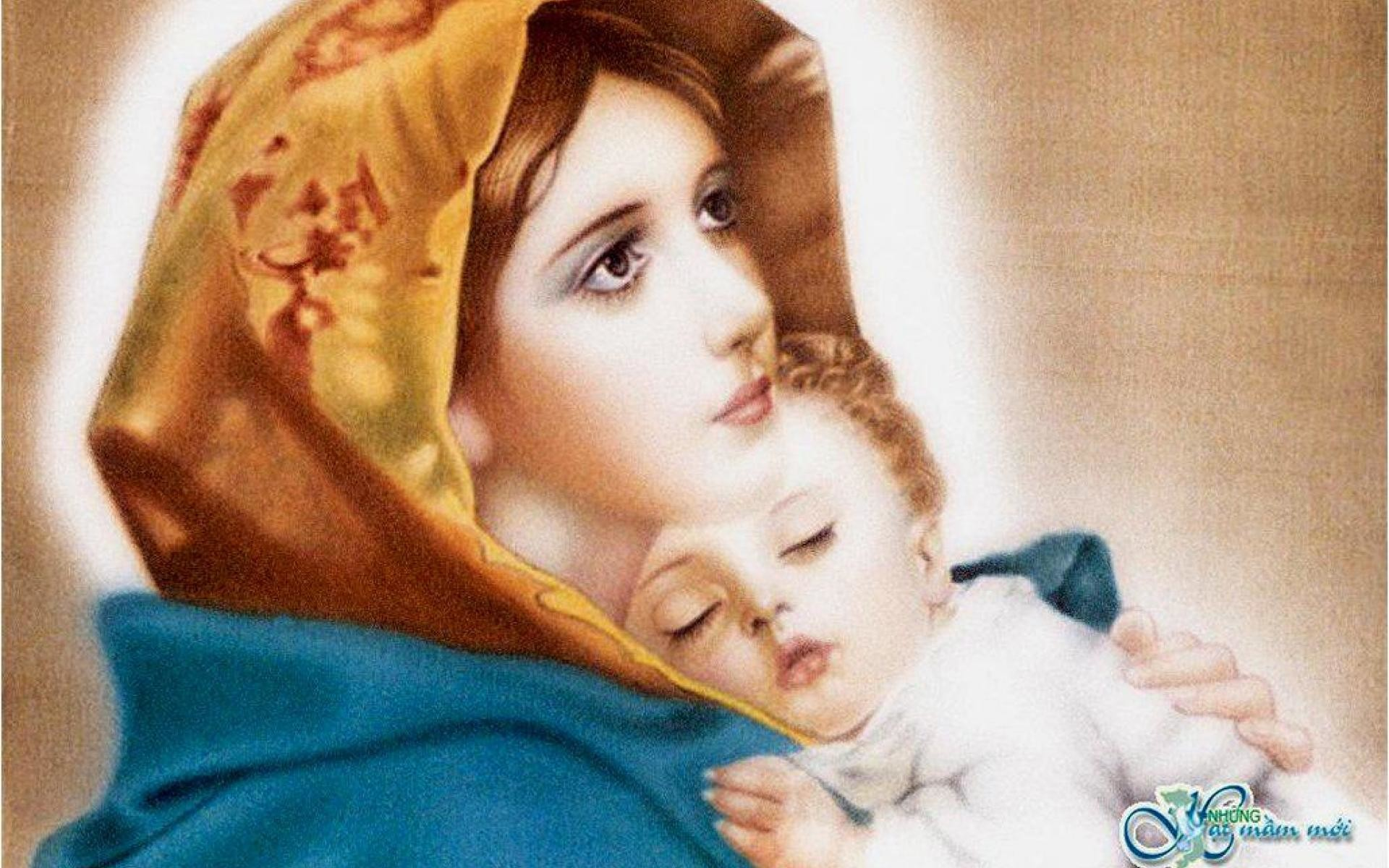 Infant Jesus Hd Wallpapers Mother Mary With Baby Jesus Wallpaper 34 Images