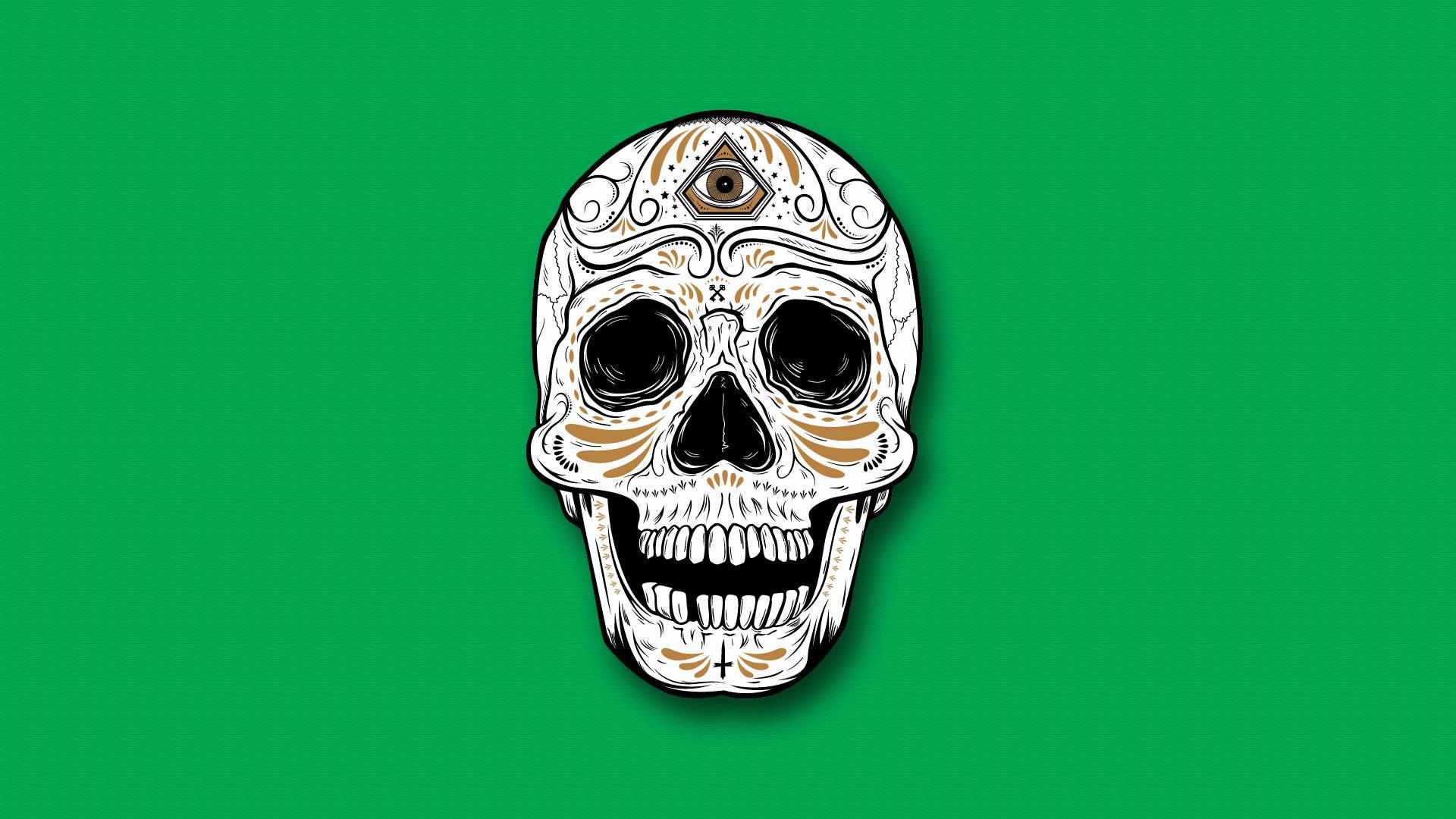 Colorful Skull Iphone Wallpaper Sugar Skull Wallpaper For Iphone 62 Images