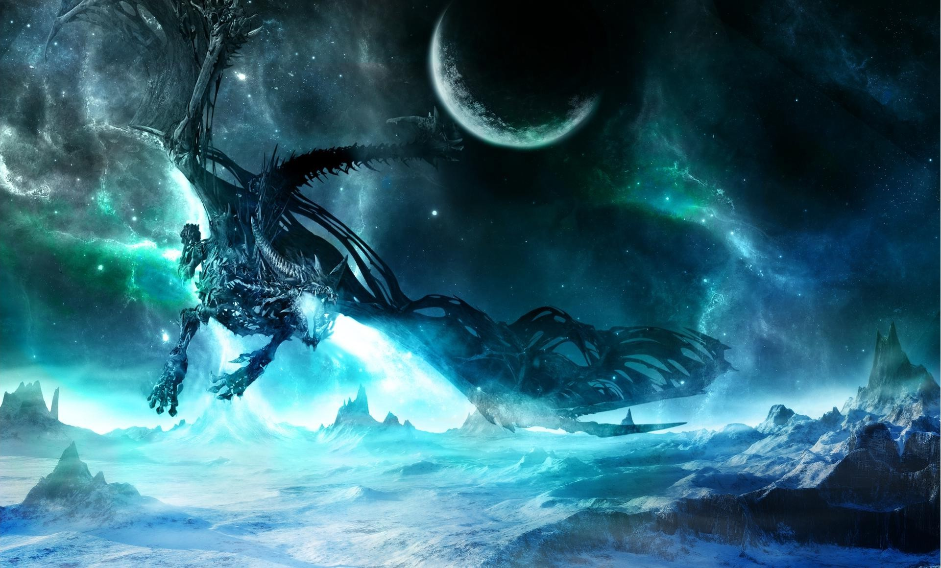 Cool Space Iphone Wallpaper Dragon Wallpapers For Desktop 61 Images