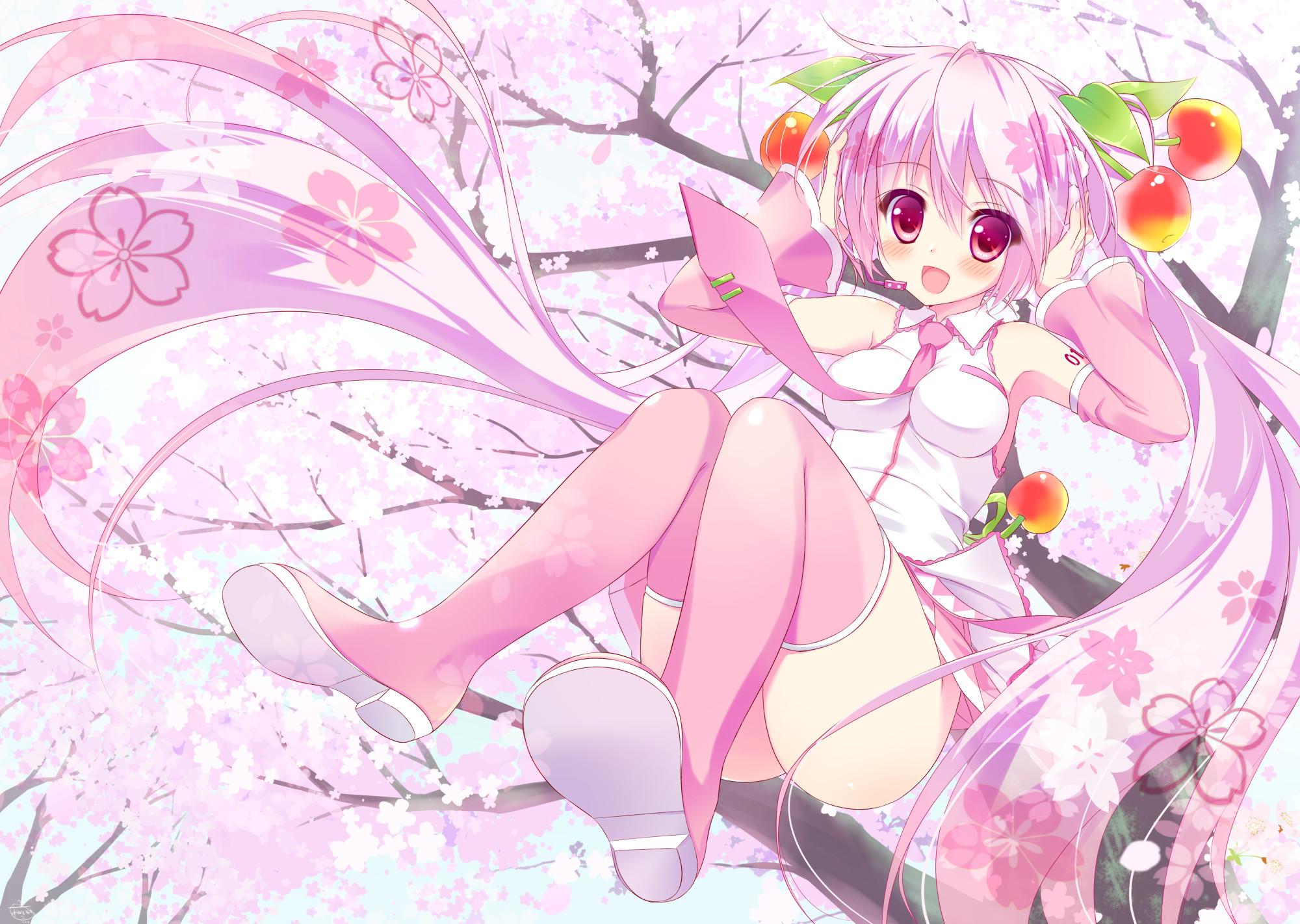 Kimono Anime Girl Android Wallpaper Sakura Miku Wallpapers 63 Images