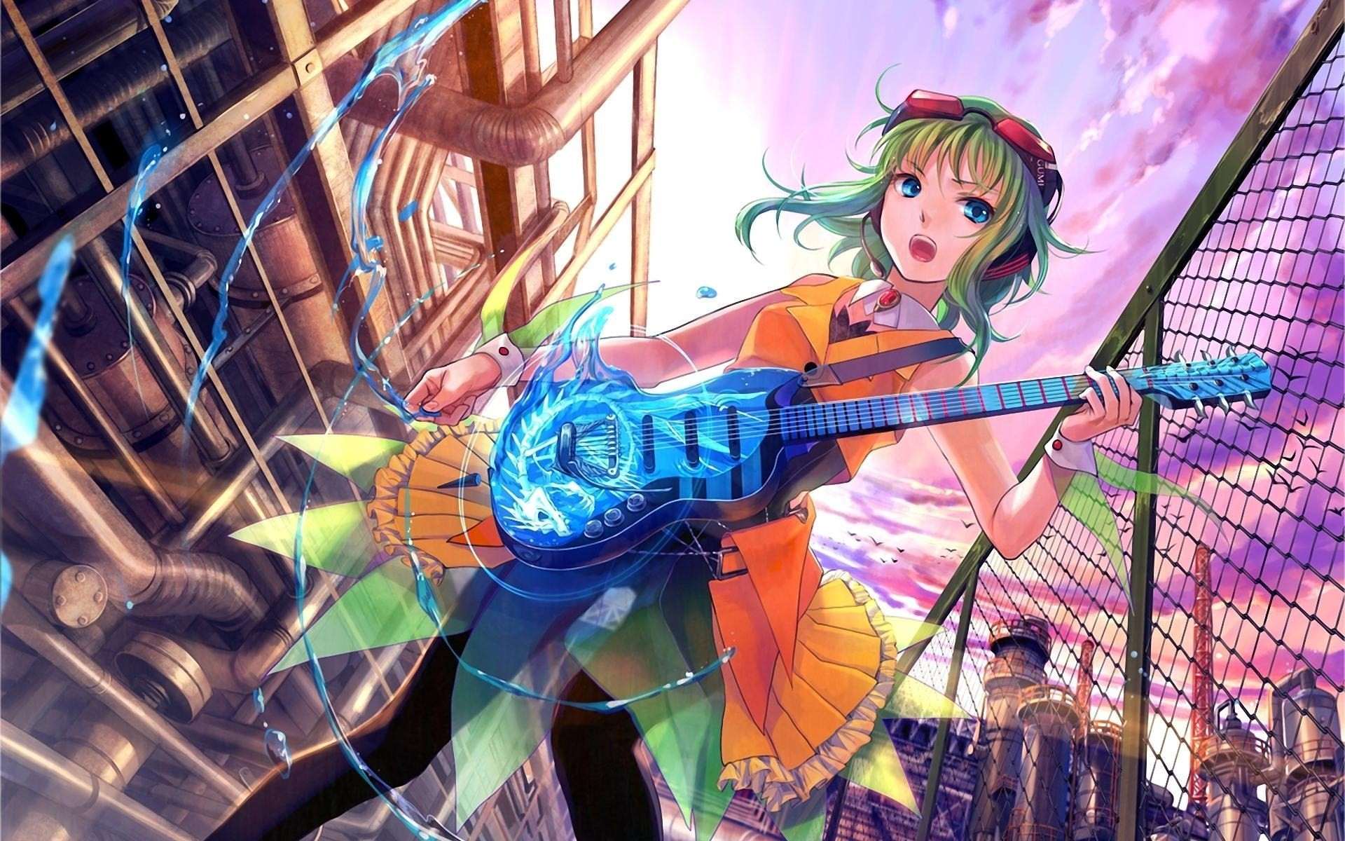 Beautiful Girl With Guitar Hd Wallpapers Anime Girls Wallpapers 76 Images