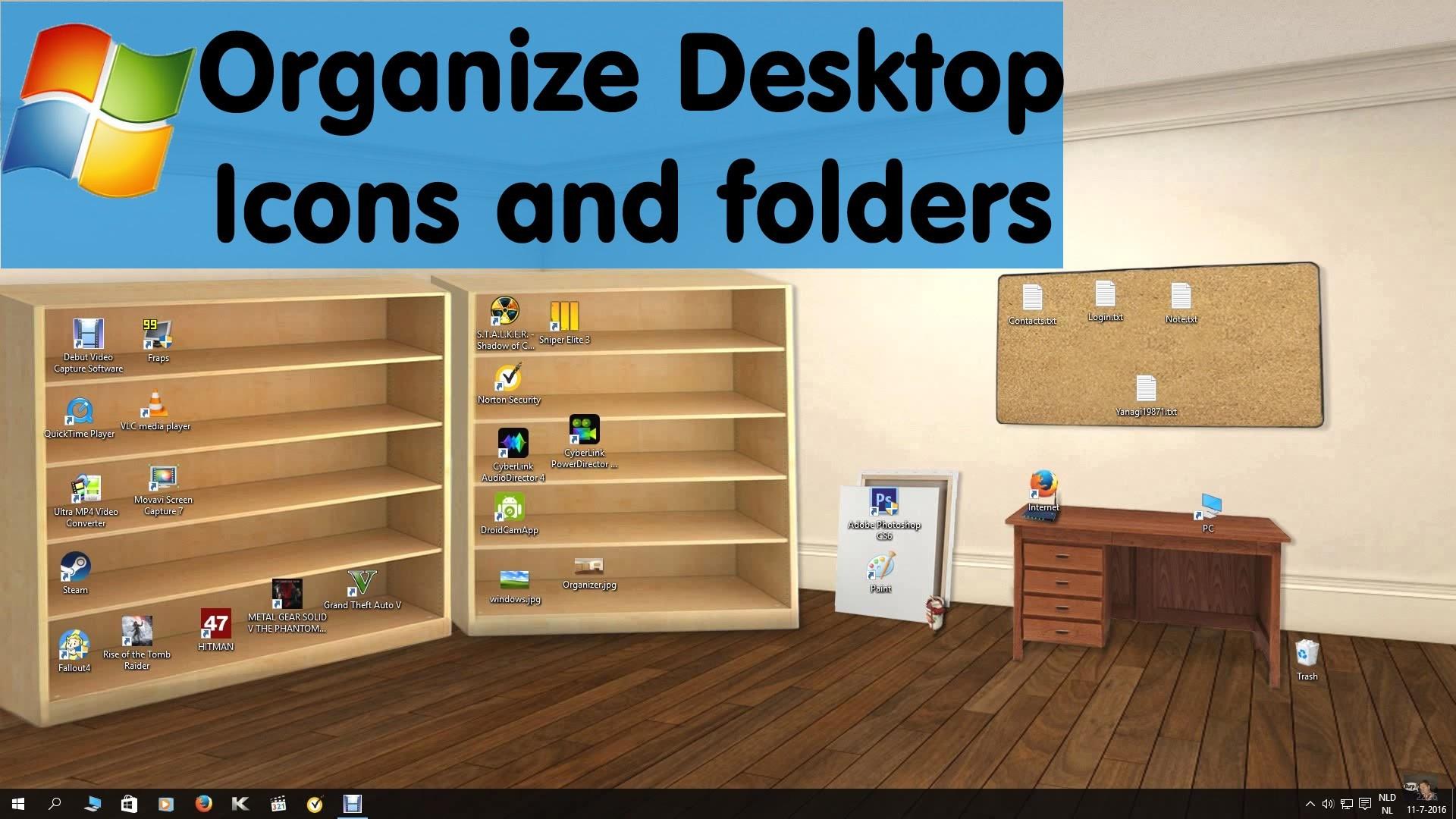 Classic 3d Desktop Workplace Wallpaper Organize Desktop Wallpaper 71 Images