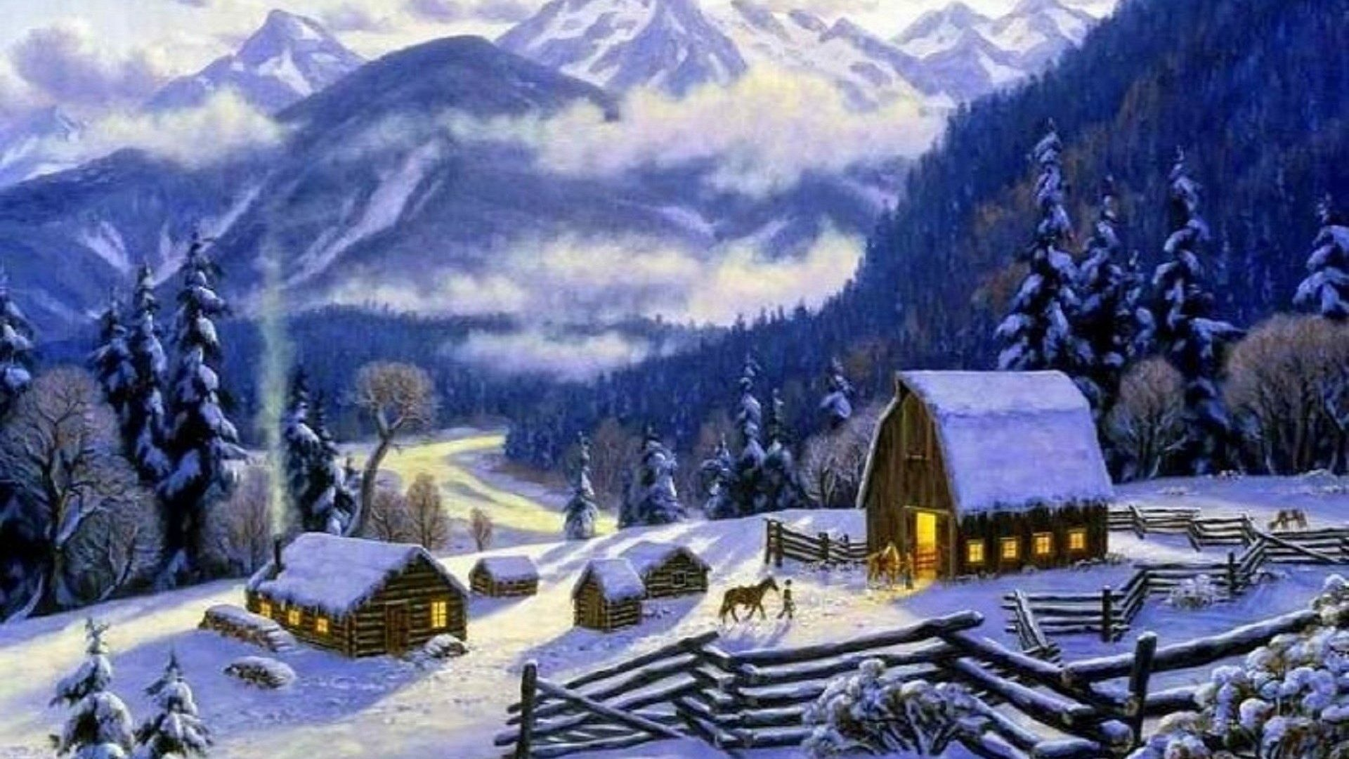 Free Animated Desktop Wallpaper Like Snow Falling On Background Animated Snow Scene Wallpaper 41 Images