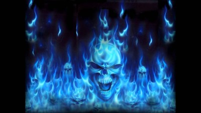 Flaming Skulls Wallpaper (59+ images)