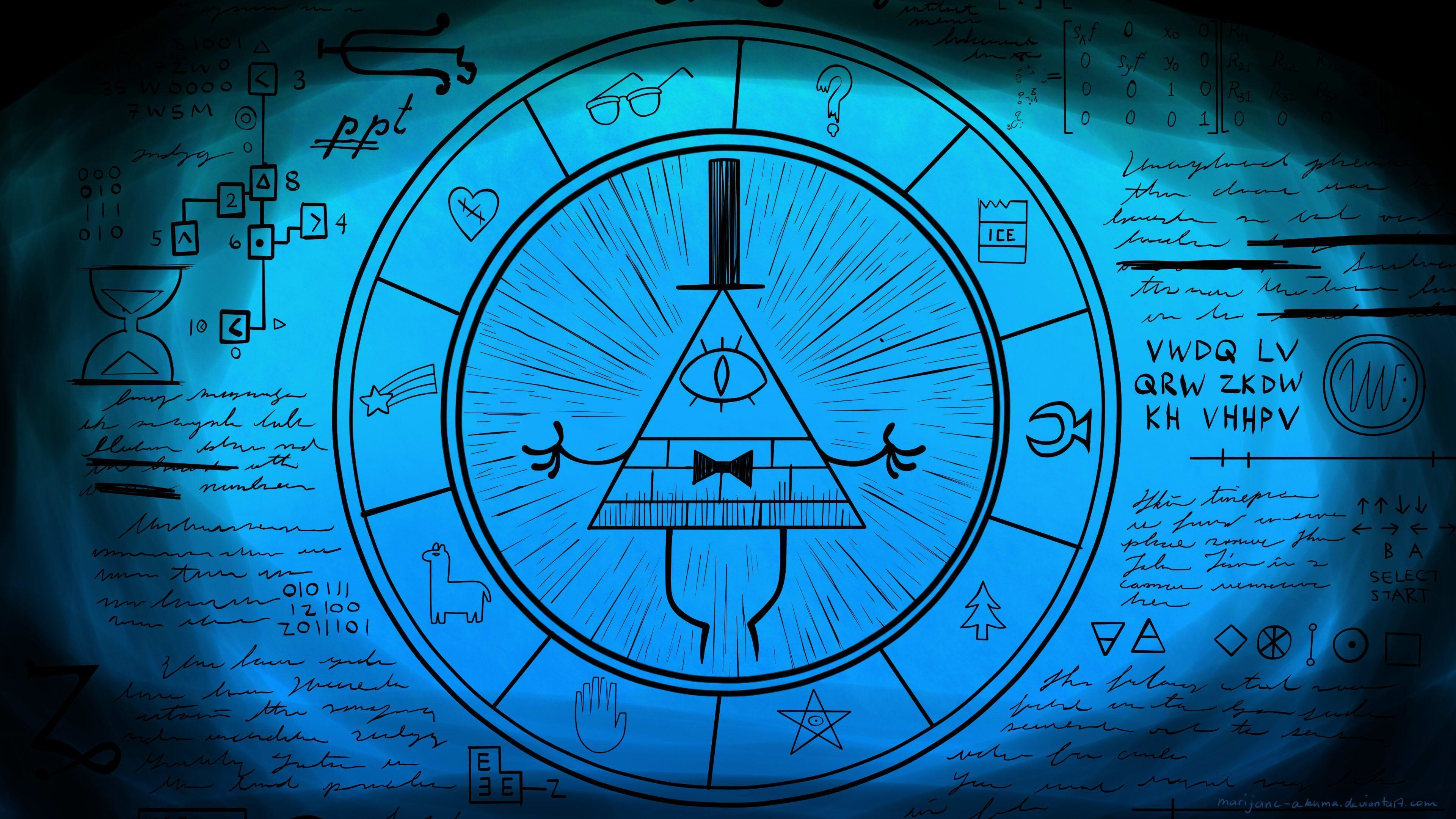 Gravity Falls Bill Wallpaper Iphone Bill Cipher Wheel Wallpaper 66 Images