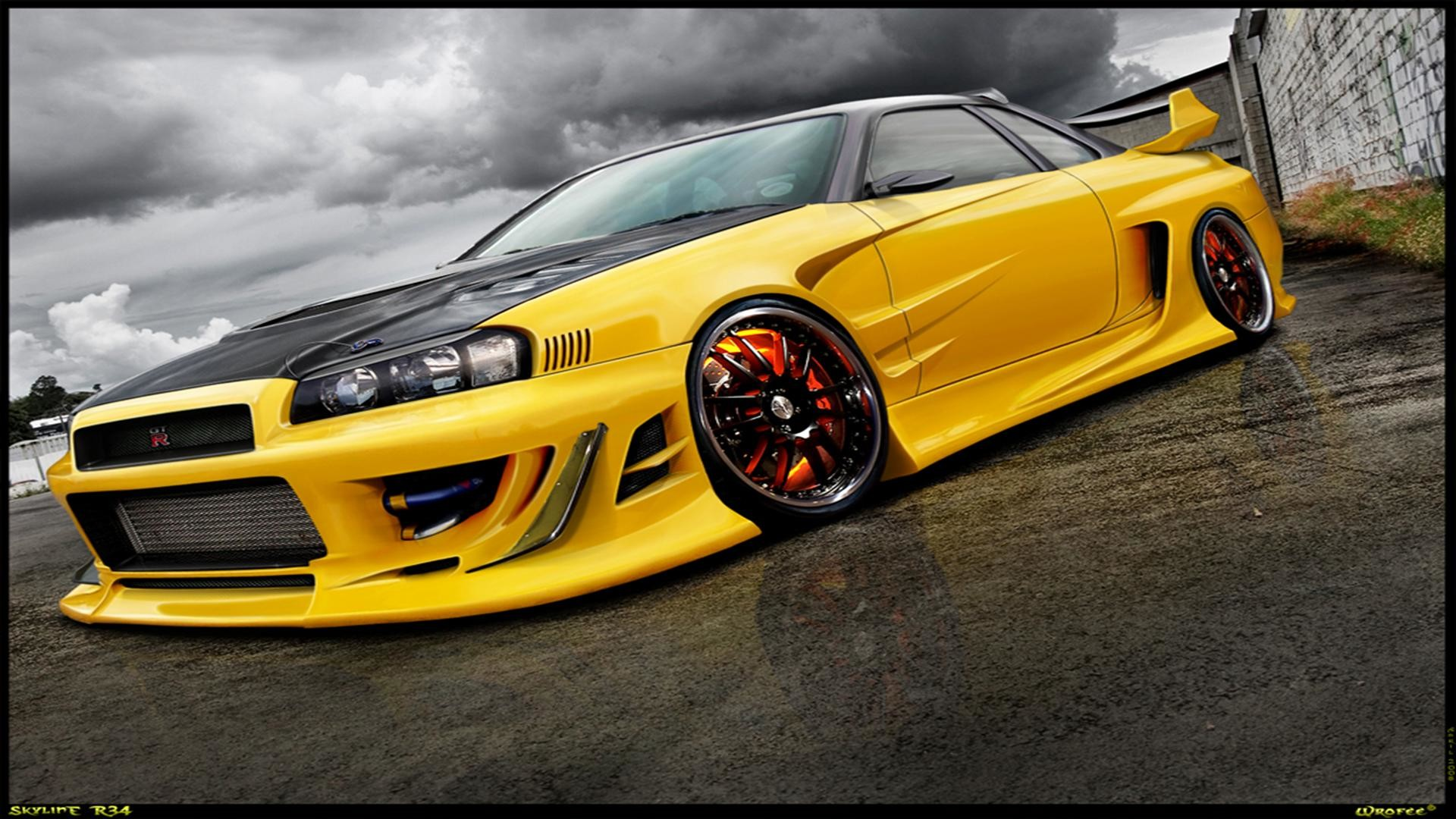 Fast And Furious 4 Cars Wallpapers Nissan Skyline Gt R R34 Wallpapers 70 Images